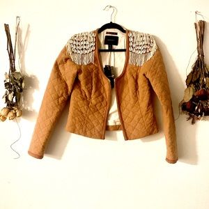 Mason scotch beaded seashell boho jacket